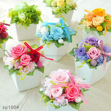 Various designs and colors of handmade preserved flower for celebration gift