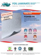 glass fibre mesh reinforced fire retardant aluminium foil