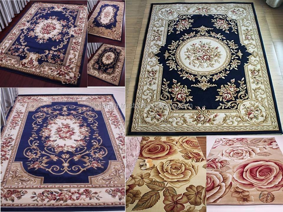 Persian style pure silk new needle felt carpets.JPG