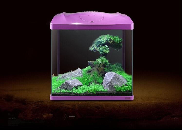 Christmas ornamental sunsun aquarium mini glass fish tank for Ornamental fish tank
