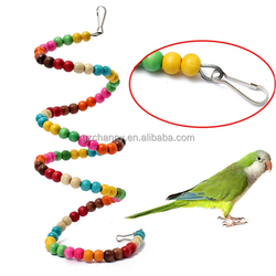 Newest Best price Parrot Toy Bouncing Cage Bird Hanging Spiral Ladder Stand Cockatoo Parakeet Toys 100CM Bird Supplies