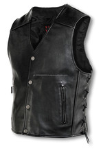 leather biker vest / Lederweste / leather waistcoat / leather motorbike waist coat