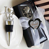 Zinc Alloy Bottle Stopper with Silicone Letter silver color plated with heart tern nick lead & d free 130x55x45mm 20PCs/Lot Sold