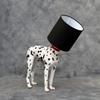 Dog Lamp White and Black Shade
