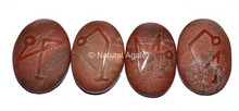 Embossed Stone Red Jasper Arch Angel Set : Wholesale Of Embossed Stone Set