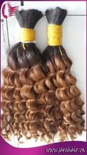 Alibaba hot sale remy wavy ombre hair extension - Two tone color hair extension