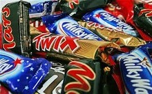 Twix , Bounty, Snickers, Mars, Kit Kat, kinder joy and surprise, and Nutella chocolate