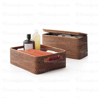Rectangular wicker tray with handles, high quality, natural material, totally organic