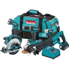FOR NEW Makita LXT601 18-Volt LXT Lithium-Ion Cordless Combo Kit, 6-Piece