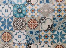 Encaustic cement tiles CTS Patchwork Blue
