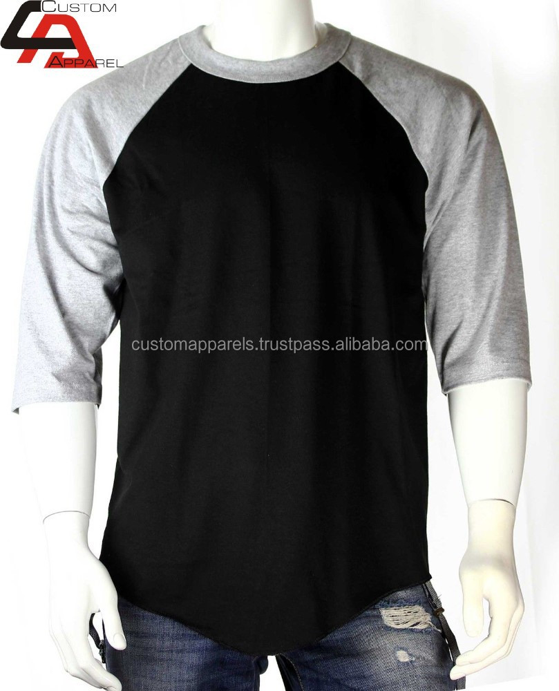 Cheap custom women raglan 3 4 sleeve baseball t shirt for Custom raglan baseball shirt