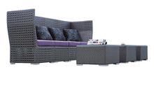 Very lovely modular poly rattan sofa set, Modern style