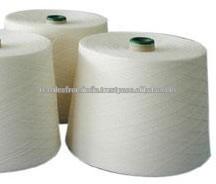 Materia prima de algodón blanco natural Nm 70/2 hilados peinados para tejer