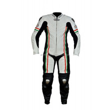Motorbike Racing leather Suit, One piece genuine cowhide leather