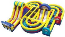 Adrenaline Rush Extreme Inflatable 34 Foot Obstacle Course- Includes