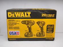 Dewalt DCK290L2 20 V MAX inalámbrico Li Ion martillo y impacto Combo Kit