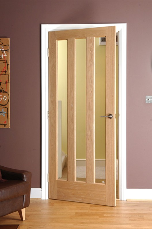 Oak Veneer 3 Lite Interior Glazed Door Buy Glazed Doorglazed