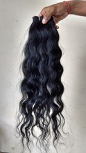 No chemical steam processed hair extension remy, indian virgin temple human hair