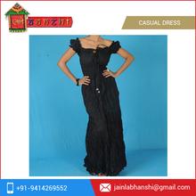 Latest Designed One Piece 100% Cotton Casual Dress Price