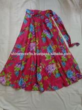 impreso faldas largas wrape modelo redondo