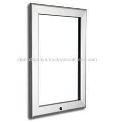 32mm Silver Lockable Snap Open Poster Frame