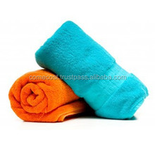 Cheap Plain Dyed Woven Polyester Cotton Terry Bath Towels