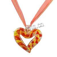 Gets.com lampwork led flashing heart necklace