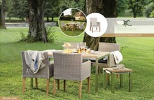 Antique wicker table and chair home furniture
