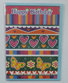 feliz cumpleaños de colores de la pared de la tarjeta de felicitación