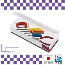 Easy to use and Lightweight plastic pencil case with multi-purpose made in Japan