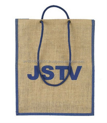 Organic Jute Shopping Tote Bags Wholesale from Vietnam