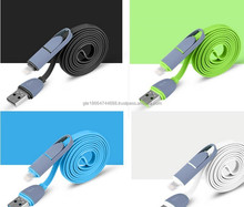 2015 hot sale 2 in1 communication dataing and usb charging auto data cable