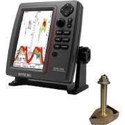 SI-TEX SVS-760TH Fish Finder Kit with Bronze Thru-Hull with Temp