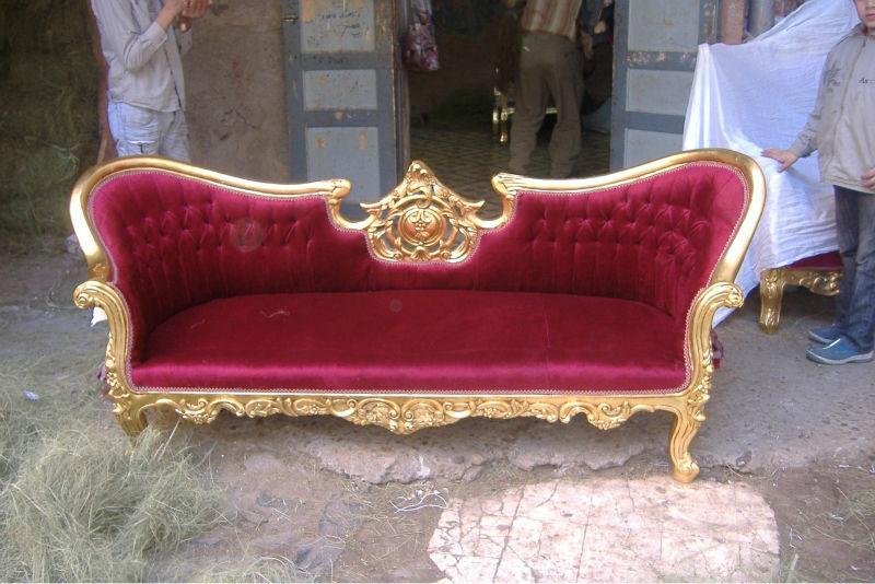 Sof barroco otros muebles de madera identificaci n del for Muebles luis xv segunda mano