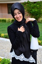 2015 New Style Exclusive High End Silk Looking Laced Hijab shawl 1027