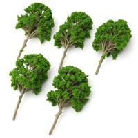5pcs/lot Top Quality 15cm Miniature Model Trees For Micro Landscape Train Railway Park Scenery Fit For Decoration