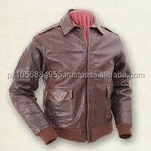 fashion genuine sheepskin leather jacket with knit hat made in Pakistan for men