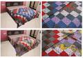 Indische tagesdecke decke quilt, reversibel rajai baumwolle bettdecke
