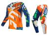Blue and Orange Florescent Fox KTM motocross Motorcycle Gear sets