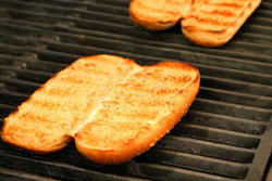 Low fat modified starch for hot dog bun