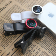 3in1 Universal phone kit Fisheye Lens Wide Angle Micro Lens for Mobile Phone