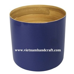 Quality eco friendly handcrafted bamboo lacquerware pencil boxes in blue & natural bamboo color