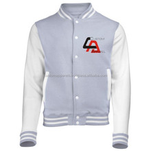 Varsity Jacket American Baseball Club College School Jacket Double-layer Cotton Snap-close Team Jacket
