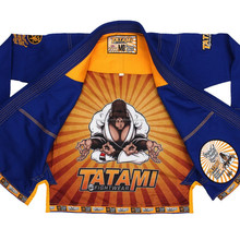 bjj Tatami zen gorilla gis , blue jiu jitsu bjj uniform with complete patches , low price high quality gi kimono