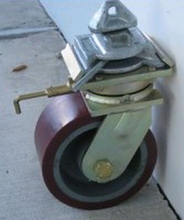 Casters set for ISO-containers, carrying capacity up-to 10 kilo tonnes (22000 lb.)