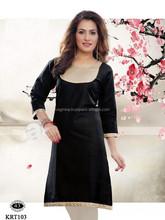 Online Shopping For Ladies Fashionable Georgette Kurti/pakistani designer long kurtis 2014