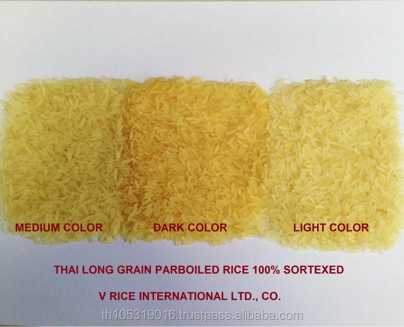 Thai Rice Long Grain Parboiled Rice 100% Sortexed Grade A