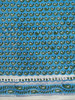 Green & light blue small hand-block printed paisley design rayon fabric / Girls beautiful garments wear block prints