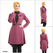 ALL201 2015 New Fashion Exclusive Hot Selling short Sleeve Turkish Tunic, hijab and Abaya