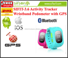 SIFIT-3.6 watch Pedometer Bluetooth Track steps. with GPS. Fitness wristband pedometer for Body Building